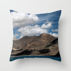 Journey to Pangong Lake Throw Pillow