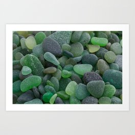 Green Sea Glass - Up Close & Personal Art Print