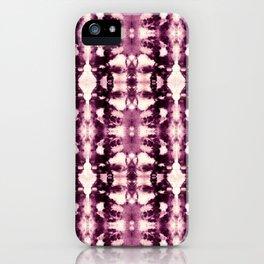 Tie Dye Burgundies iPhone Case