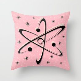 Atomic Love - Lunar Pink Throw Pillow