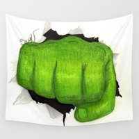 hulk Wall Tapestries featuring hulk by Nathanee.