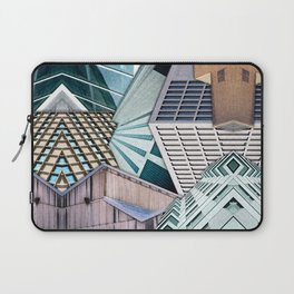 City Buildings Abstract Laptop Sleeve