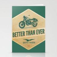 moto Stationery Cards featuring moto guzzi by Liviu Antonescu