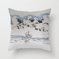 sail Throw Pillows featuring Sail by Bryan McKinney