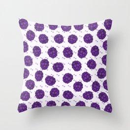 Juicy purple blackberries pattern Throw Pillow