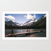 Lake Josephine in Many Glacier Art Print