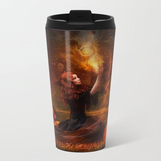 The Witch Fantasy Mystic Scene  Metal Travel Mug