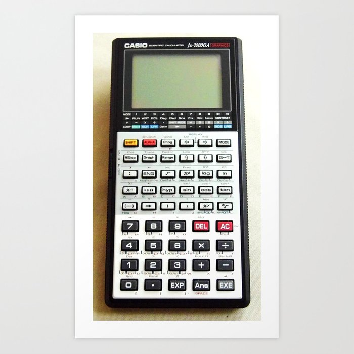 Vintage Calculator Kunstdrucke