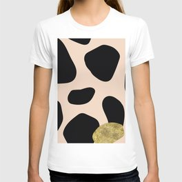 Golden exotics - Cow and soft tangerine T-shirt