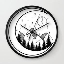Warrior's Moon Wall Clock