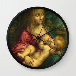 Madonna and child - Leonardo Da Vinci Wall Clock