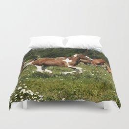 Spring Horse Run Duvet Cover