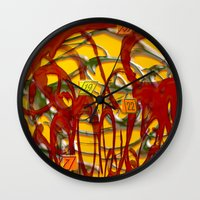 numbers Wall Clocks featuring Numbers by LoRo  Art & Pictures