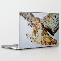 hawk Laptop & iPad Skins featuring Hawk by Grace Neeson