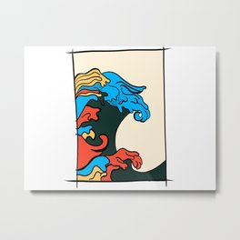 Color Wave Metal Print