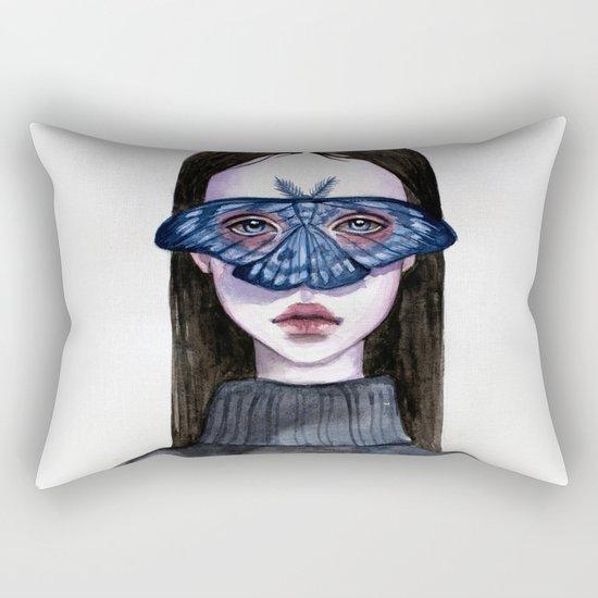 Butterfly Eyes Rectangular Pillow