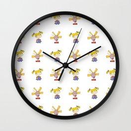 Angelica & Cynthia Pattern Wall Clock