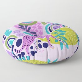 Two Pink Cheetahs Floor Pillow