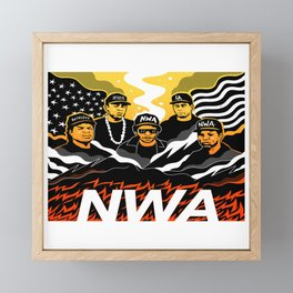 N.W.A Framed Mini Art Print