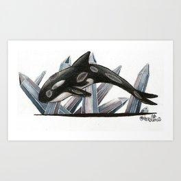 Quartz Orca Art Print