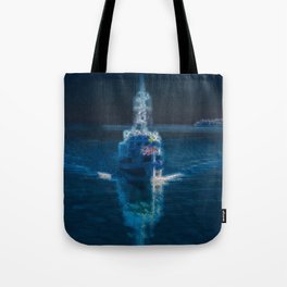 Ghostship with shipping ghosts  Tote Bag