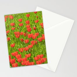 tulips field Stationery Cards