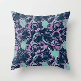 Water Circles #society6 #pattern Throw Pillow
