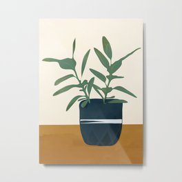 Vase Plant Metal Print