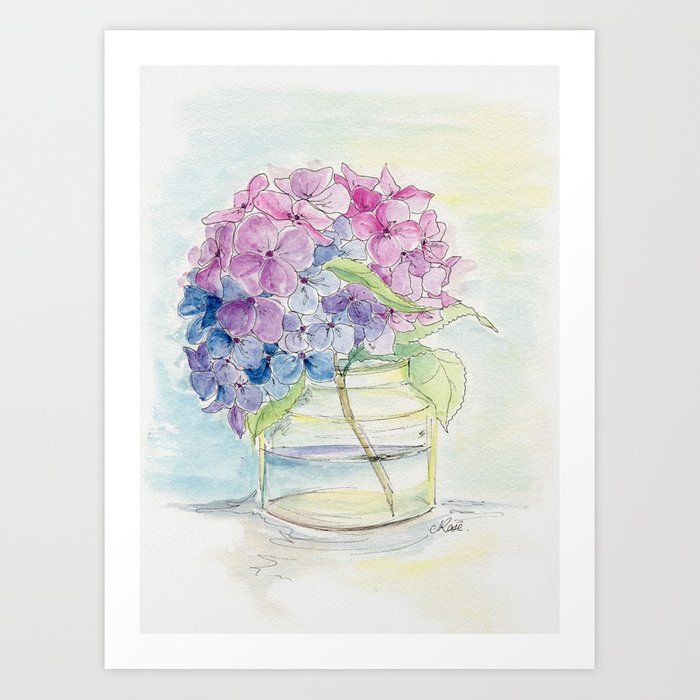 Hydrangea, Still Life Kunstdrucke