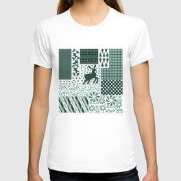 Holiday Green Quilt Design T-shirt