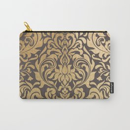 Gold swirls damask #9 Carry-All Pouch