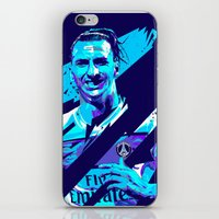 zlatan iPhone & iPod Skins featuring Zlatan Ibrahimović : Football Illustrations by mergedvisible