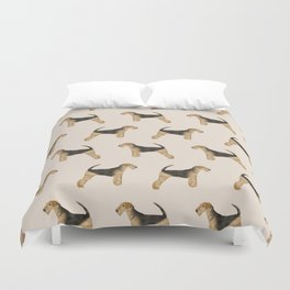 Airedale Terrier pattern dog breed cute custom dog pattern gifts for dog lovers Duvet Cover