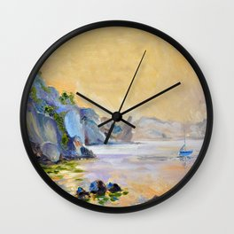 Lonely sailer Wall Clock