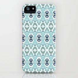 Ikat Java Blue Mini iPhone Case