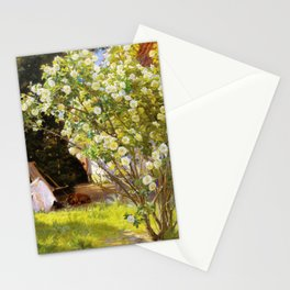 Roses. Marie Kroyer Seated In The Deckchair In The Garden By Mrs Bendsen's House 1893 Stationery Cards