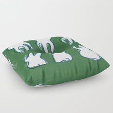 molar pattern Floor Pillow