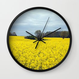 landscape in yellow Wall Clock