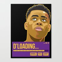 lakers Canvas Prints featuring d'loading by dmrz