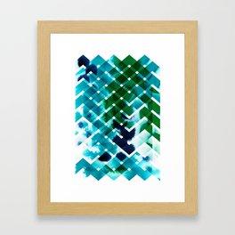 River in deciduous wood Framed Art Print