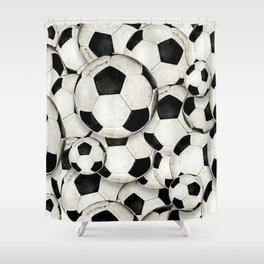 Dirty Balls - footballs Shower Curtain
