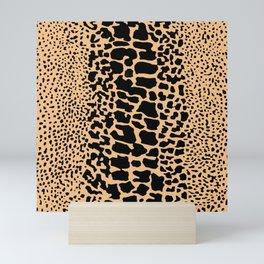 ANIMAL PRINT SNAKE SKIN TAN BROWN AND BLACK PATTERN Mini Art Print