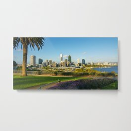 Perth Skyline, Western Australia Metal Print