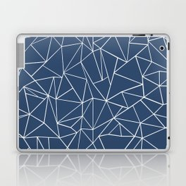 Abstraction Outline Navy Laptop & iPad Skin