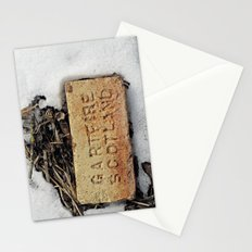 Brick in the Snow Stationery Cards