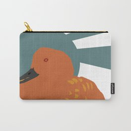 Orange duck Carry-All Pouch