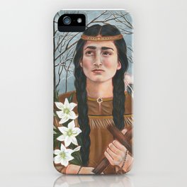 Saint Kateri Tekakwitha iPhone Case