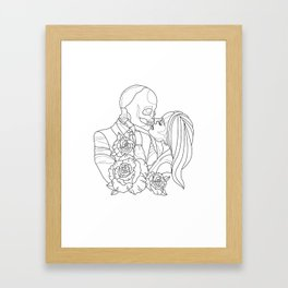 Kissed by the curse Framed Art Print