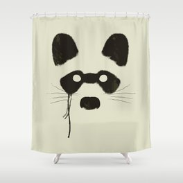 Raccoon {Light} Shower Curtain