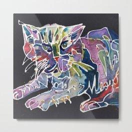 Rainbow Magic Meow Cat Metal Print
